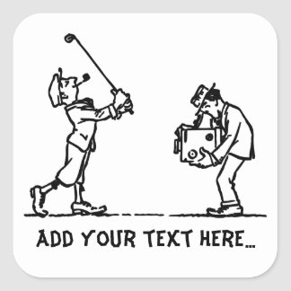 Golf player - Like a Boss Square Stickers