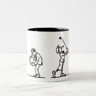 Golf player - Like a Boss Two-Tone Coffee Mug