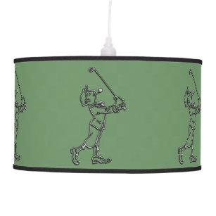 Golf Player Outline Design ~ Editable Background Pendant Lamp