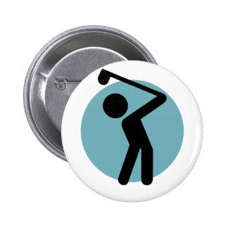 Golf Player Pinback Button