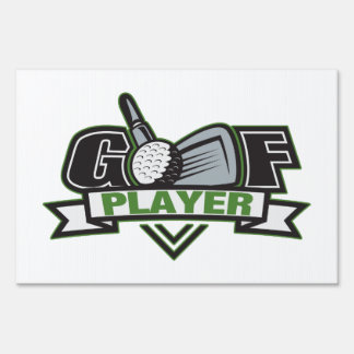 Golf Player Sign