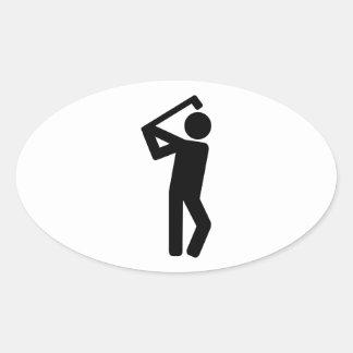 Golf player sticker