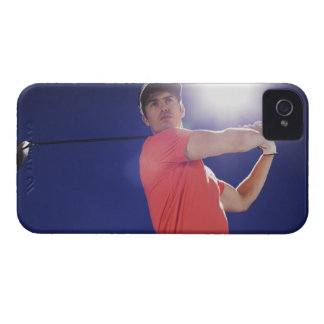 Golf player swinging club iPhone 4 Case-Mate cases