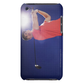 Golf player swinging club iPod touch Case-Mate case