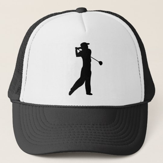 golf player trucker hat
