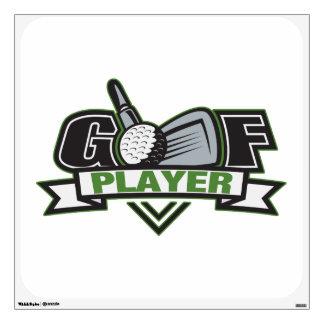 Golf Player Wall Sticker