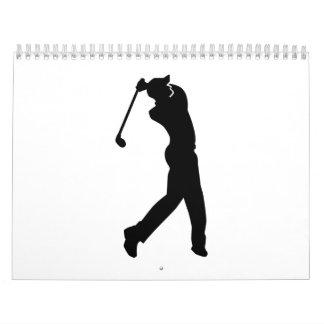 Golf Player Calendar