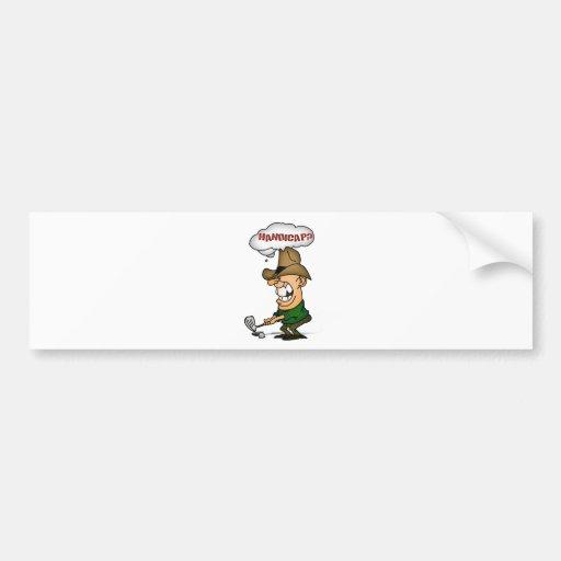 Golf Players Shirts Handicap golfers shirts Bumper Stickers