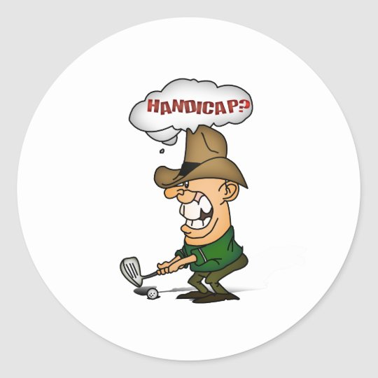 Golf Players Shirts Handicap golfers shirts Classic Round Sticker