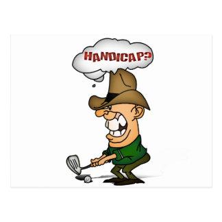 Golf Players Shirts Handicap golfers shirts Postcard