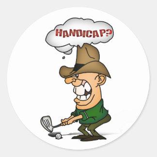 Golf Players Shirts Handicap golfers shirts Stickers