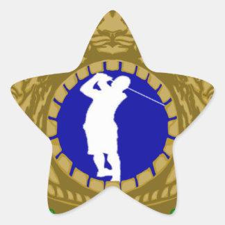 Golf.png indio pegatina en forma de estrella