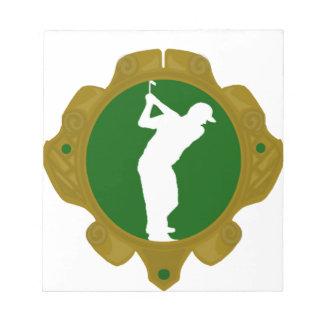 Golf png irlandés libreta para notas