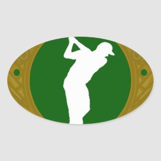 Golf png irlandés pegatina de óval