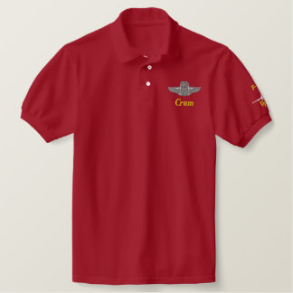 Golf Polo W/F-16, Wings, and Call Sign