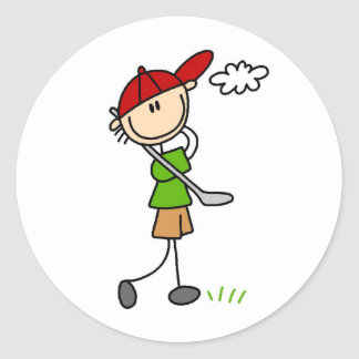 Golf Pose Sticker