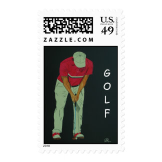 GOLF POSTAGE STAMPS