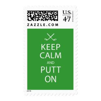 Golf Postage - Keep Calm & Putt On