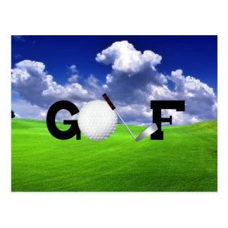 Golf Postcard