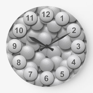 Golf Practice Ball Bucket. Large Clock