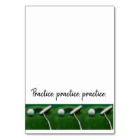 Golf Practice, practice, practice with  putter Table Number