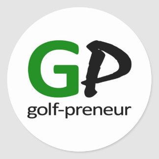 Golf Preneur Brand of Golf Gifts Classic Round Sticker