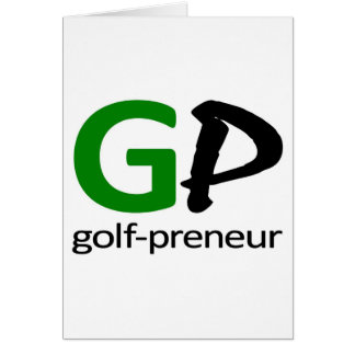 Golf Preneur Brand of Stationary Card