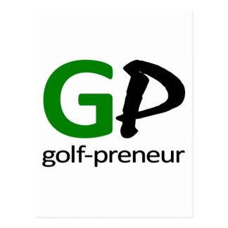 Golf Preneur Brand of Stationary Postcard