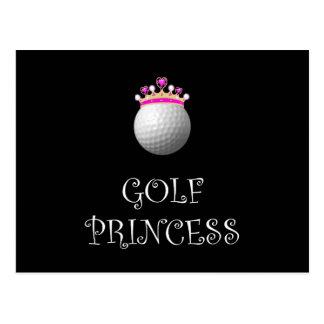 Golf Princess Postcard