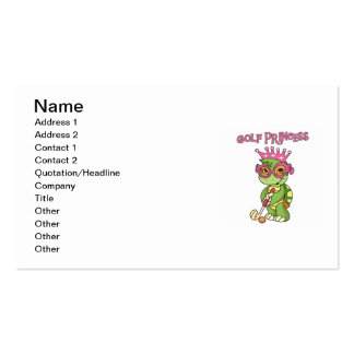 Golf Princess T-shirts and Gifts Double-Sided Standard Business Cards (Pack Of 100)