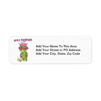 Golf Princess T-shirts and Gifts Return Address Label