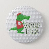 Golf Pro Alligator Button