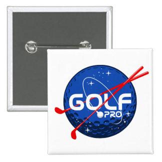 Golf Pro 2 Inch Square Button