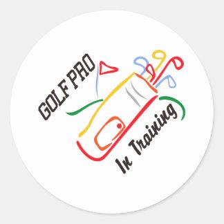 Golf Pro Classic Round Sticker