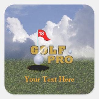 Golf Pro Design Square Sticker