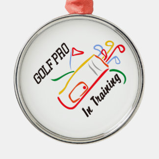 Golf Pro Metal Ornament