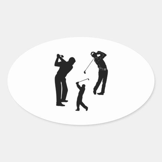 Golf Pro Oval Sticker