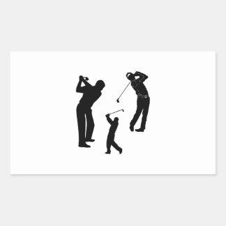 Golf Pro Rectangular Sticker