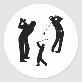 Golf Pro Round Stickers