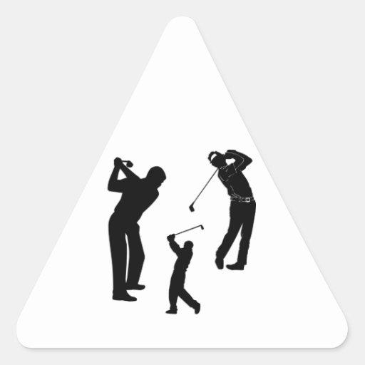 Golf Pro Triangle Sticker