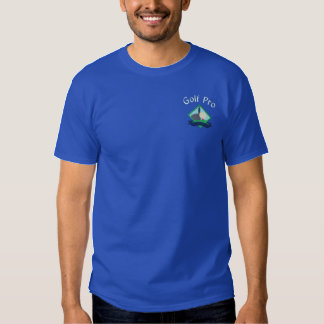 Golf Pro with Embroidered Logo Embroidered T-Shirt