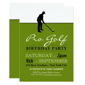 Golf Professional Birthday Party Card