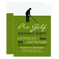 Golf Professional Birthday Party Invitation