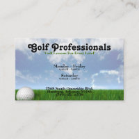 Golf Professionals Business Card
