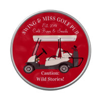 Golf Pub Golf Cart Beer & Snacks Wild Stories Candy Tin