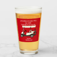 Golf Pub Golf Cart Beer & Snacks Wild Stories Pint Glass