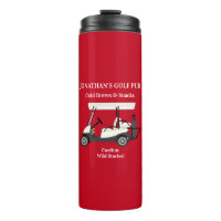 Golf Pub Golf Cart Beer & Snacks Wild Stories Pub Thermal Tumbler