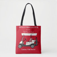Golf Pub Golf Cart Beer & Snacks Wild Stories Tote Bag