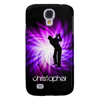 Golf púrpura fresco funda para galaxy s4