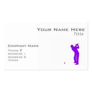 Golf púrpura violeta tarjeta de visita
